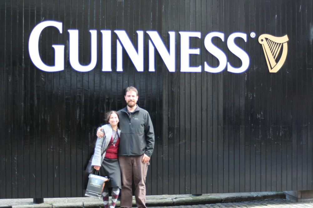 Nick and Jamie at the Guinness Storehouse