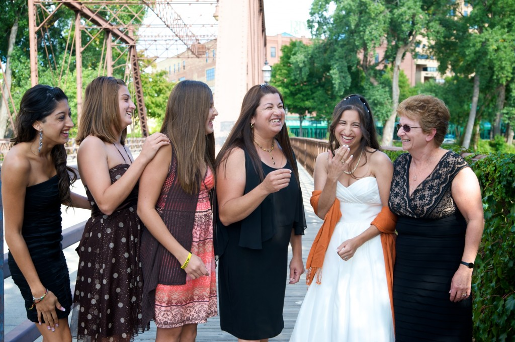me, my mom, my sister and my nieces